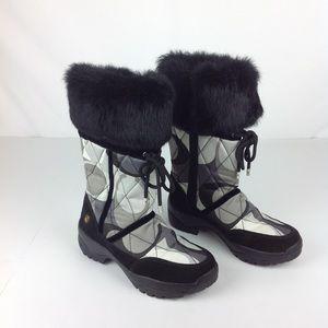 Coach Sasha Rabbit Fur Snow Boots Sz 6